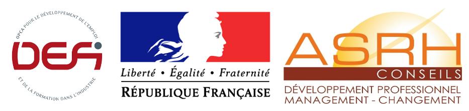Logos OPCA DEFi Marianne ASRH CONSEILS